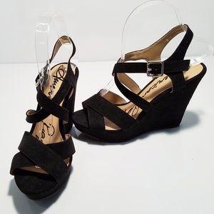 """American Rag Rachey faux suede 4.5"""" wedge sandals"""